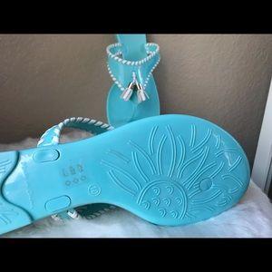 Jack Rogers Alana jelly baby blue tassel sandals